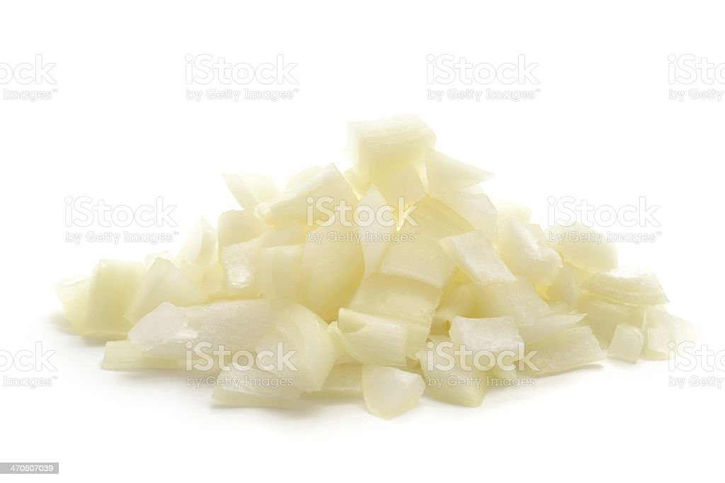 Chopped onion stock photo