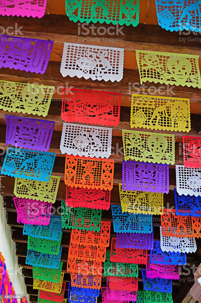 Papel picado stock photo