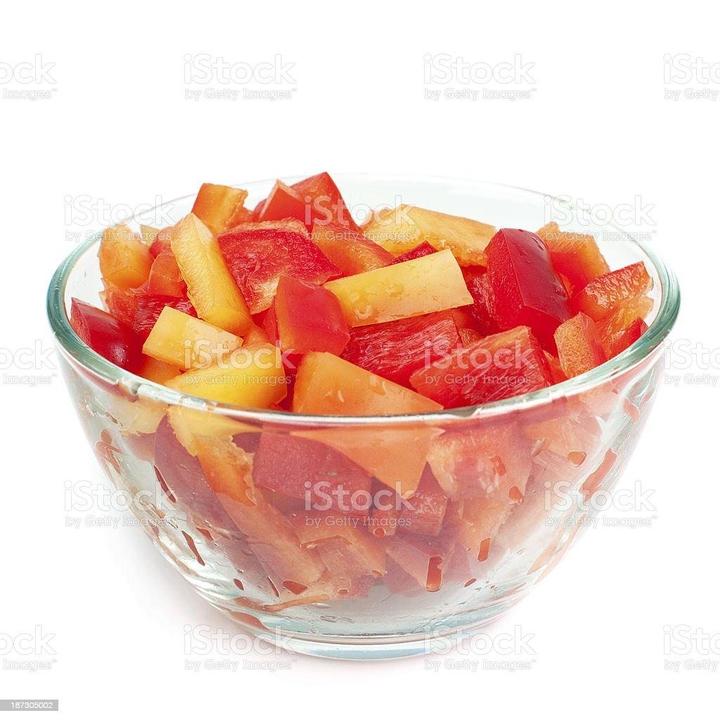 Aliment émincé paprika photo libre de droits