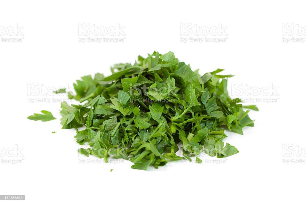 Chopped parsley stock photo