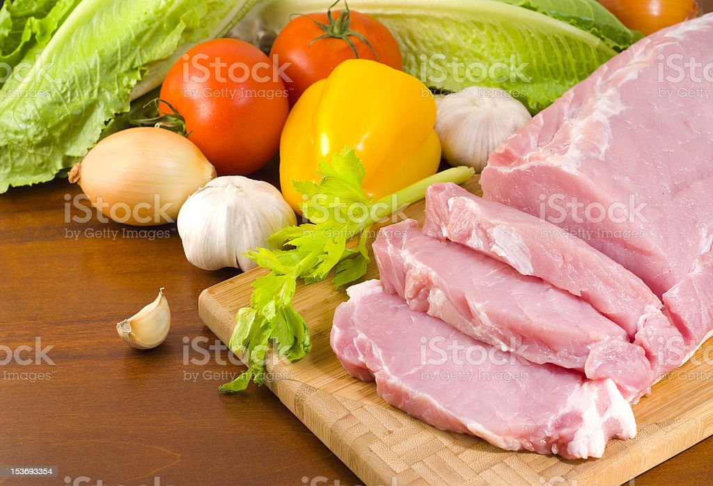 Chopped pork tenderloin royalty-free stock photo