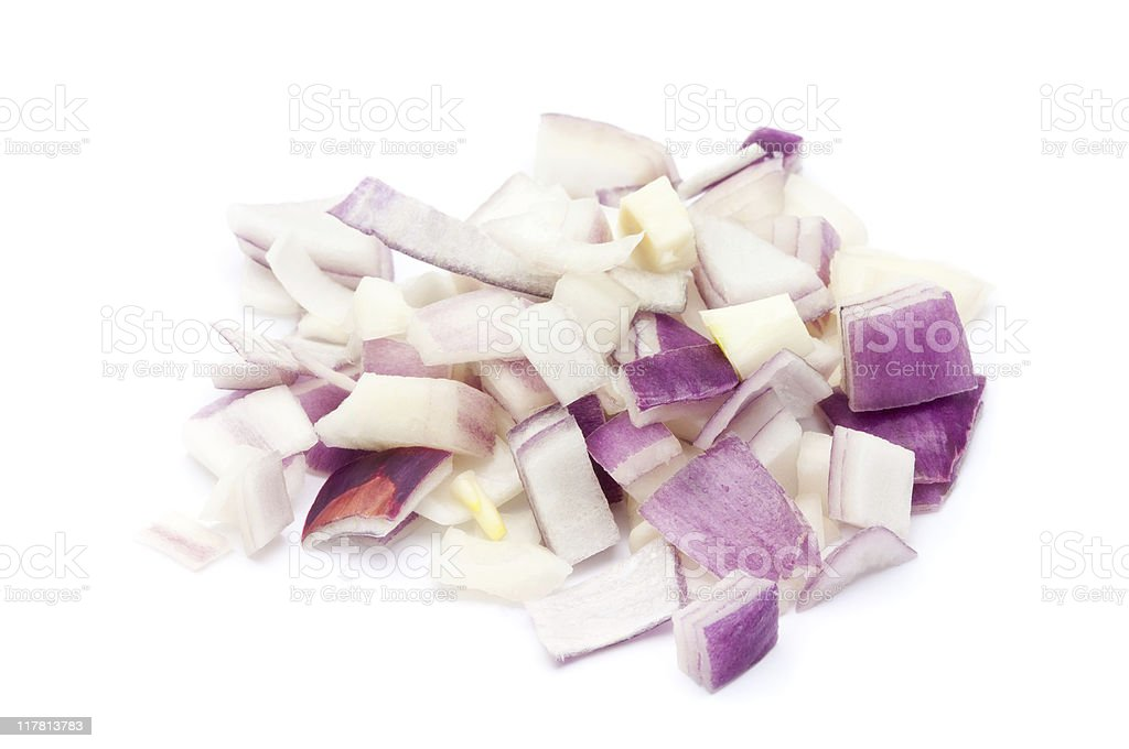 Chopped Red Onion royalty-free stock photo