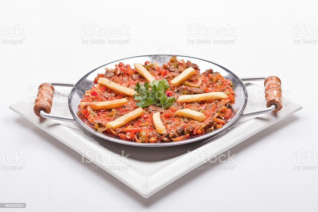 chopped roasted tomato sauce(meat) stock photo