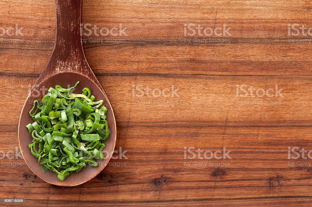 Chopped scallions stock photo
