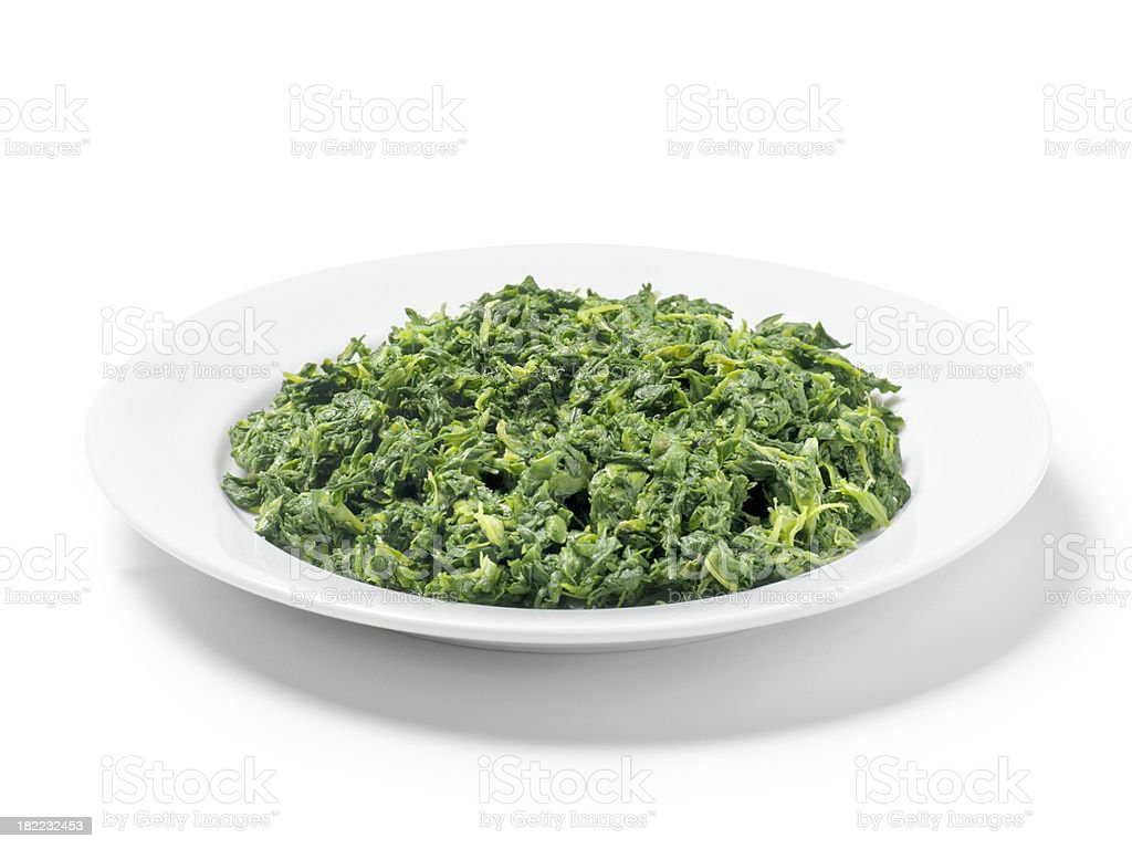 Chopped Spinach royalty-free stock photo