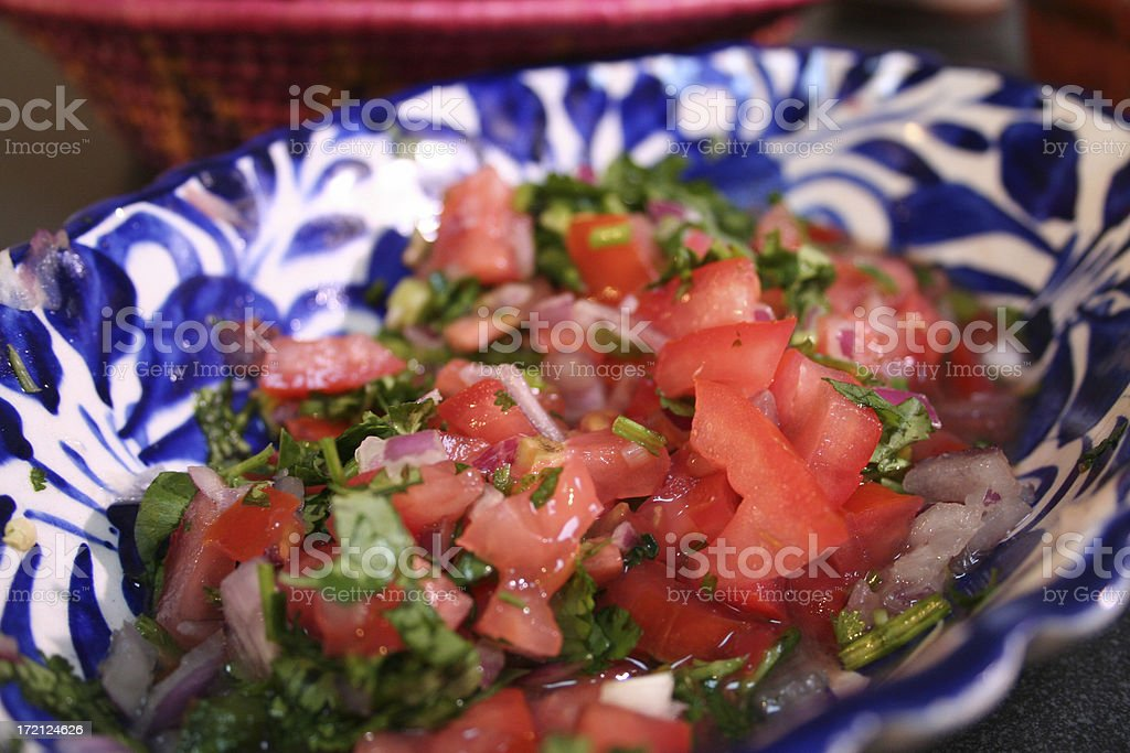Chopped Tomato  Tabouli stock photo