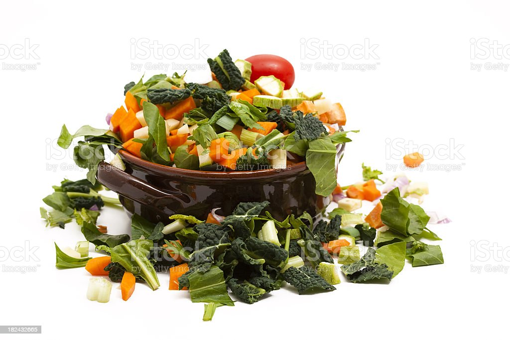 chopped vegetables royalty-free stock photo