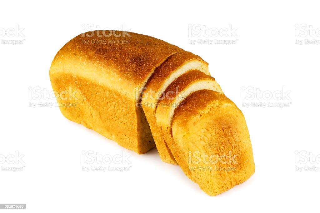 Chopped wheat bread stock photo