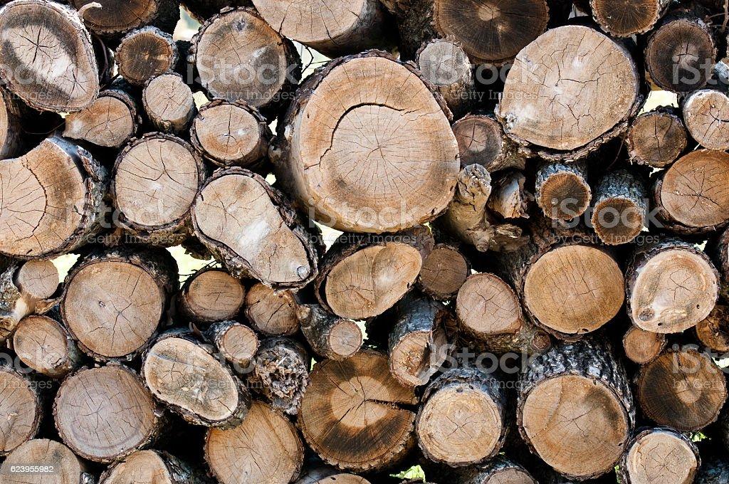 Chopped wood background stock photo