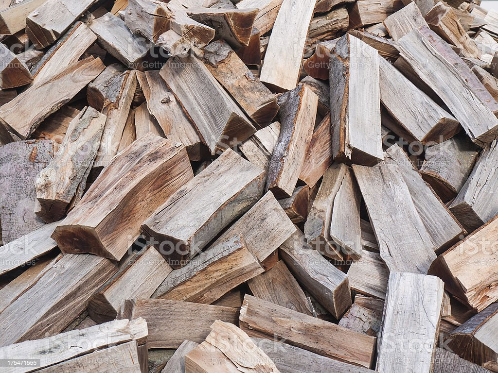 Chopped wood royalty-free stock photo