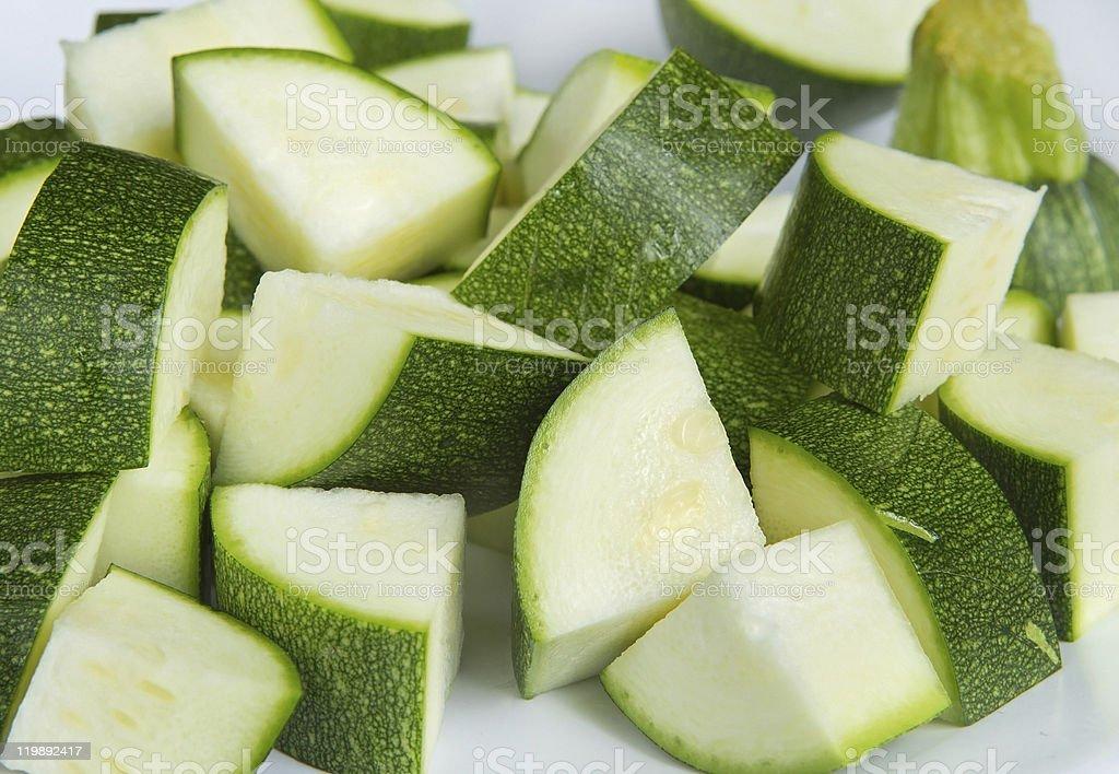 chopped zucchini royalty-free stock photo