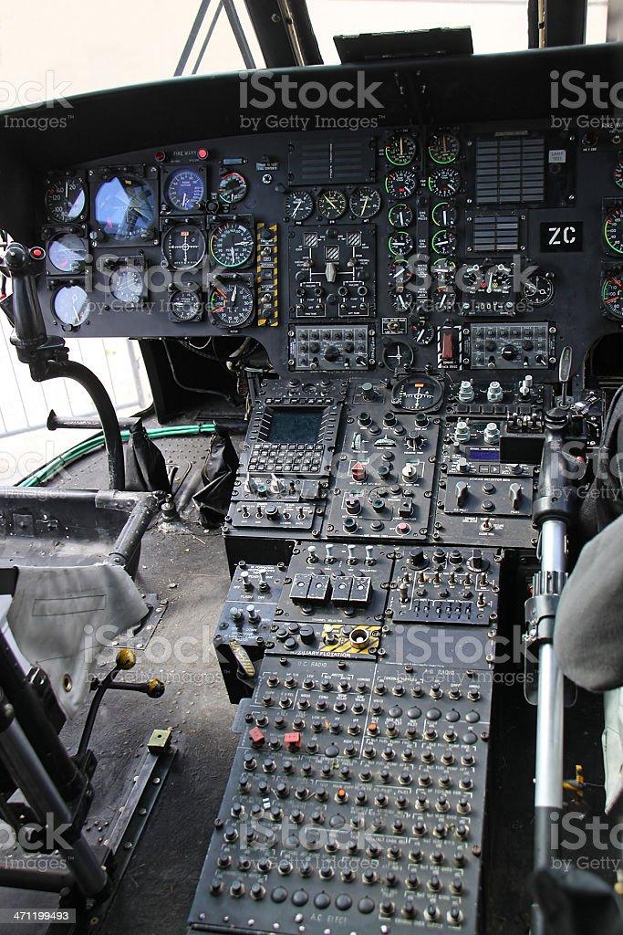 Chopper cockpit royalty-free stock photo