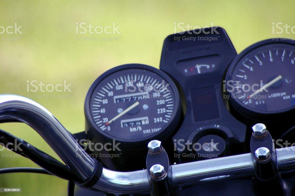 Chopper Guages stock photo