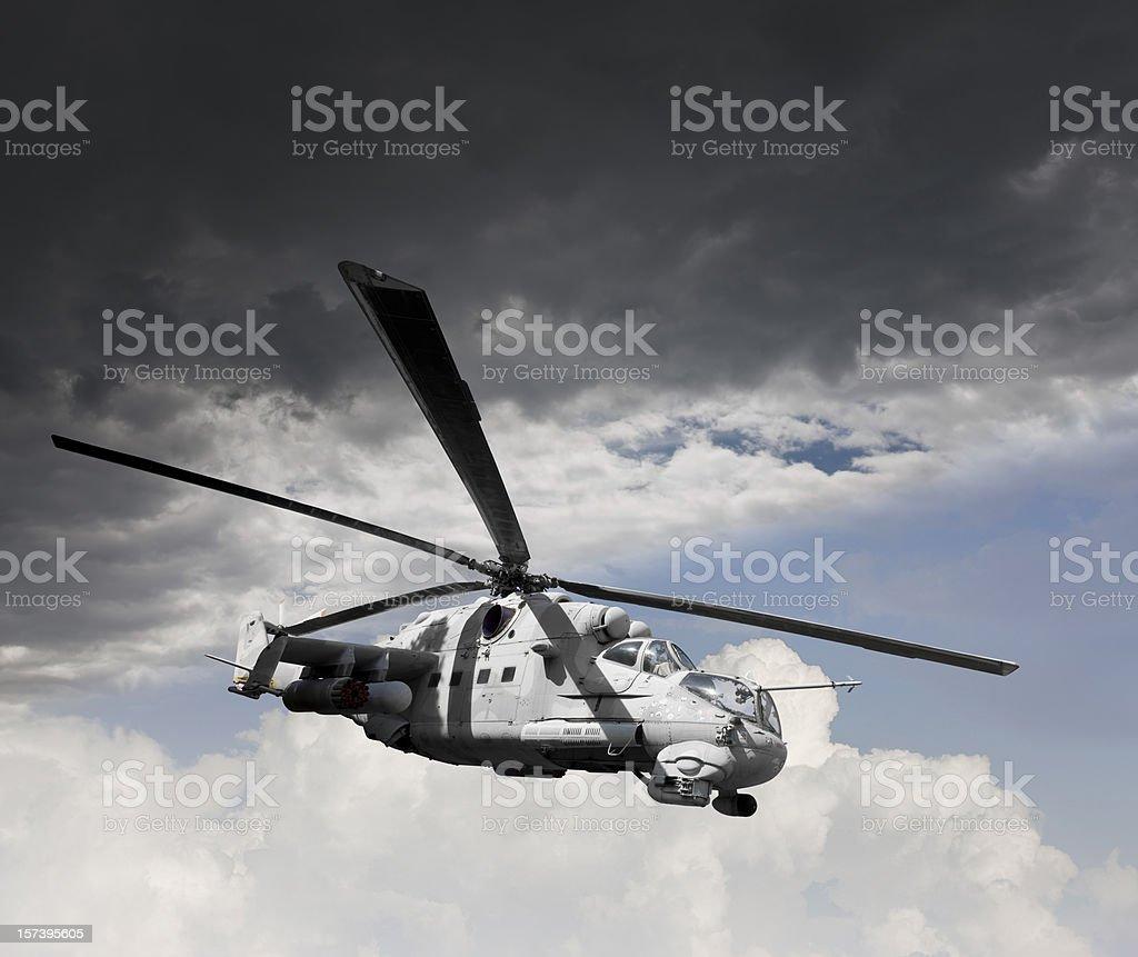 Chopper in the air royalty-free stock photo
