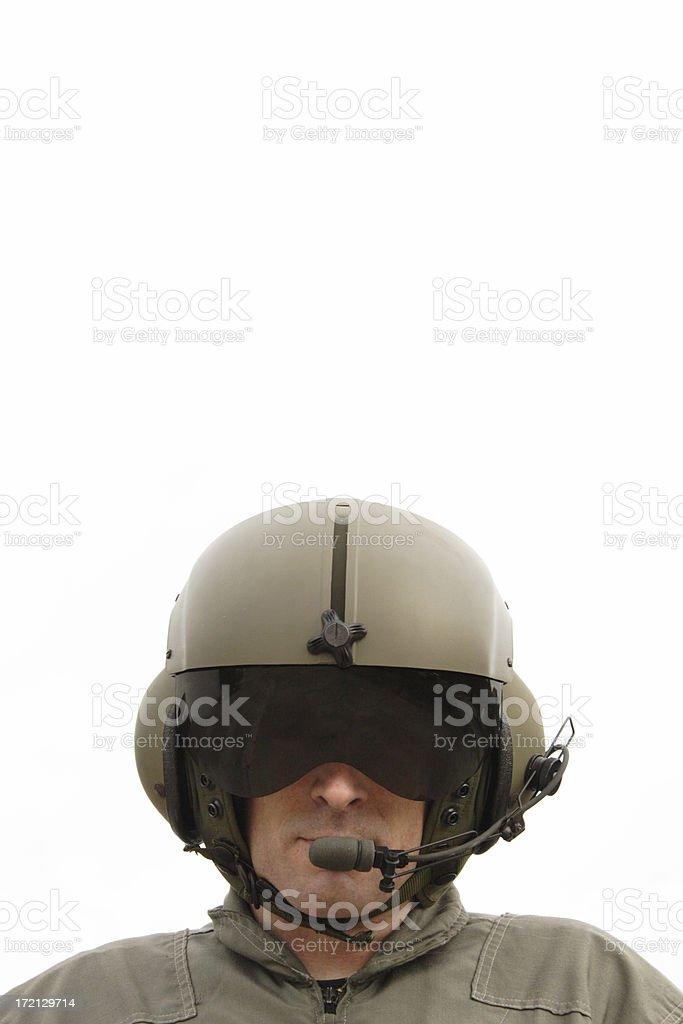 Chopper Pilot royalty-free stock photo