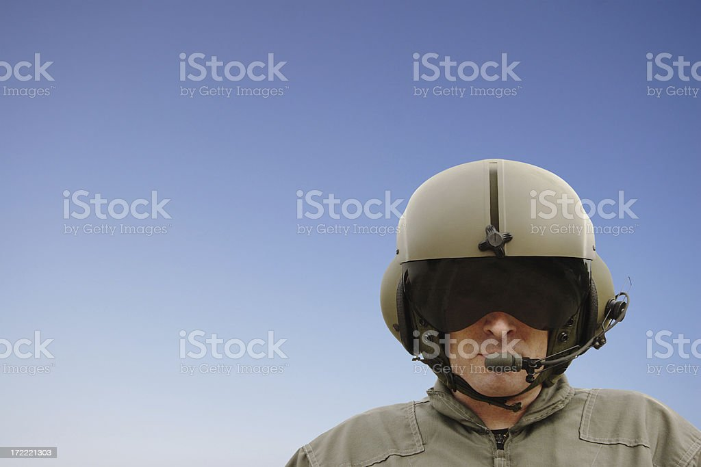 Chopper Pilot (clipping path) stock photo