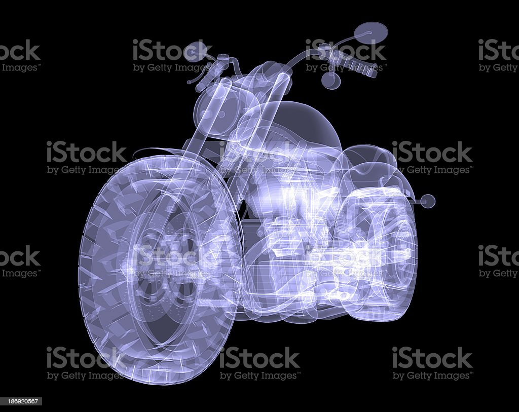 Chopper. The X-ray render royalty-free stock photo