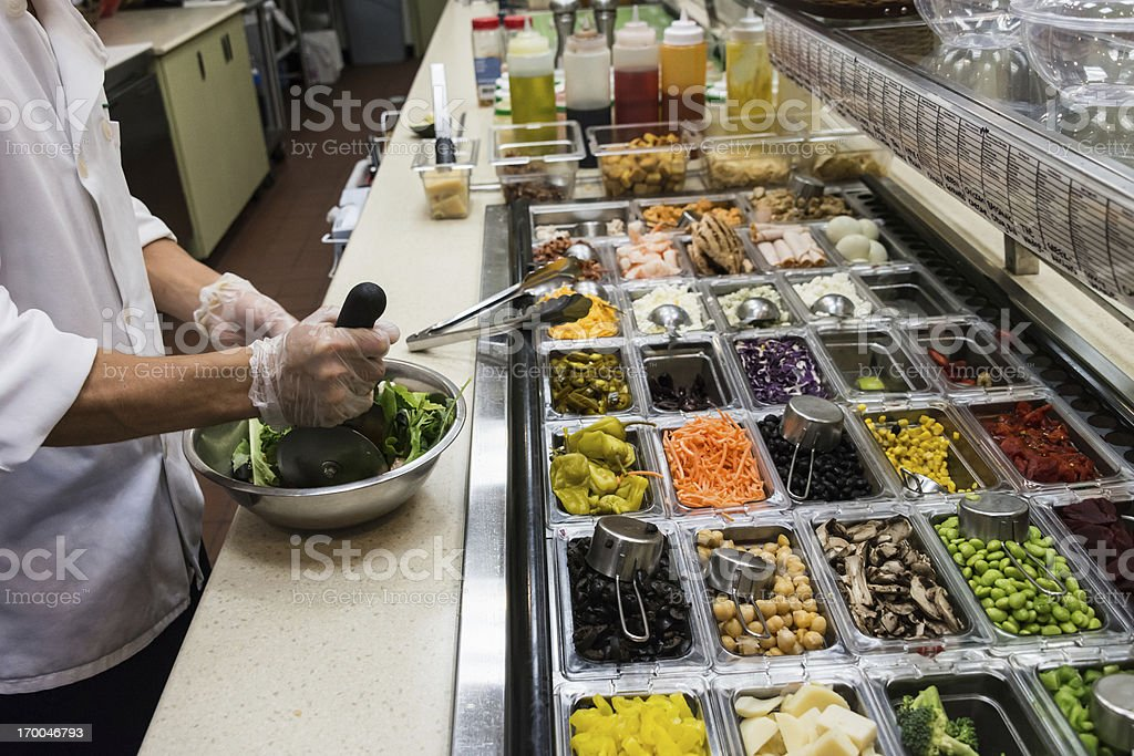 Chopping a Salad stock photo
