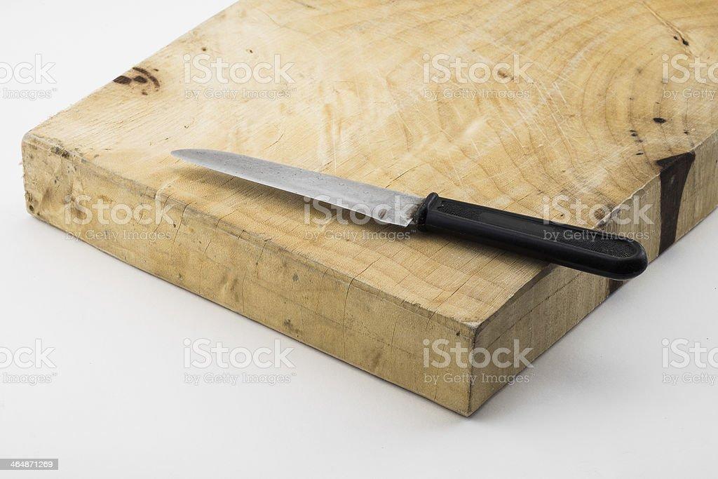 chopping block stock photo