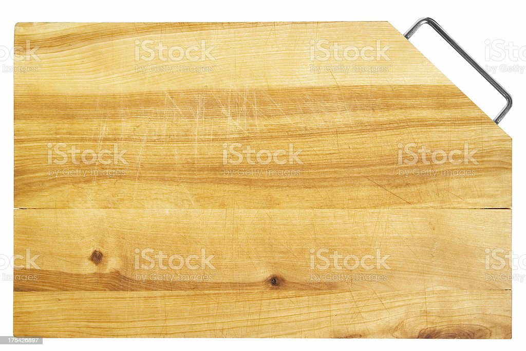 Chopping board *Clipping path included* royalty-free stock photo