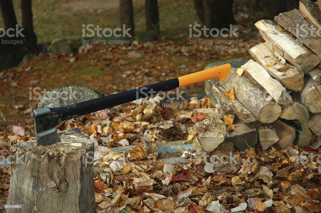 Chopping wood royalty-free stock photo
