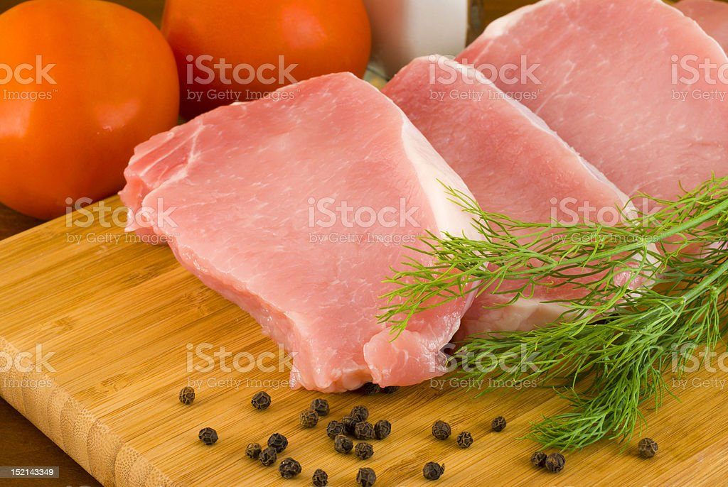 Chops with fresh vegetables royalty-free stock photo