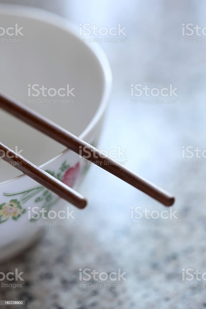 chopstick and bowl royalty-free stock photo
