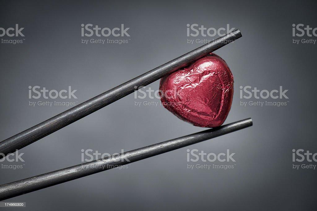 Chopstick Love royalty-free stock photo
