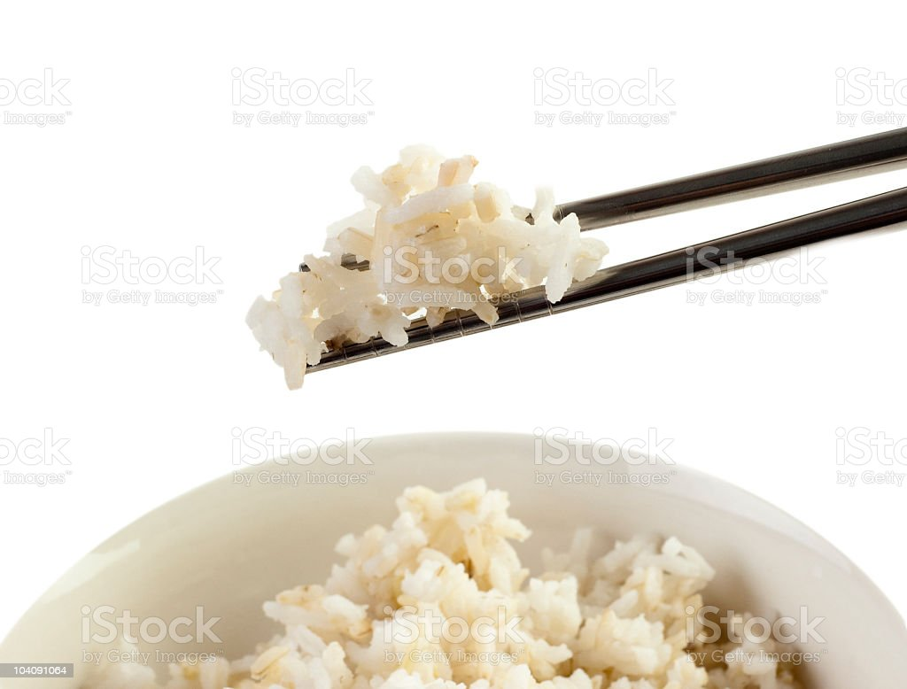 chopsticks and rice royalty-free stock photo
