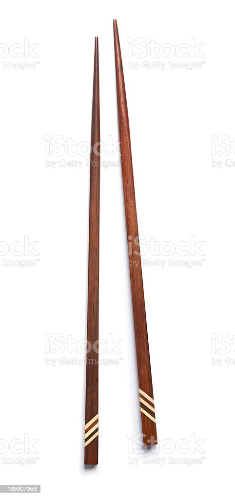 Chopsticks isolated on white with clipping path stock photo