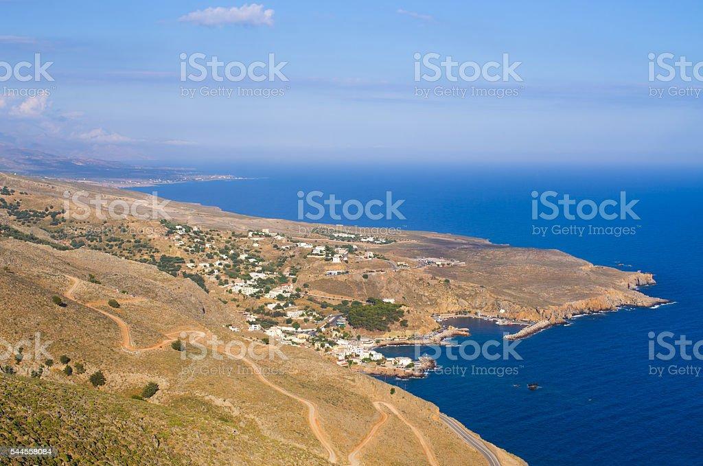 Chora Sfakion on Crete island - Greece stock photo