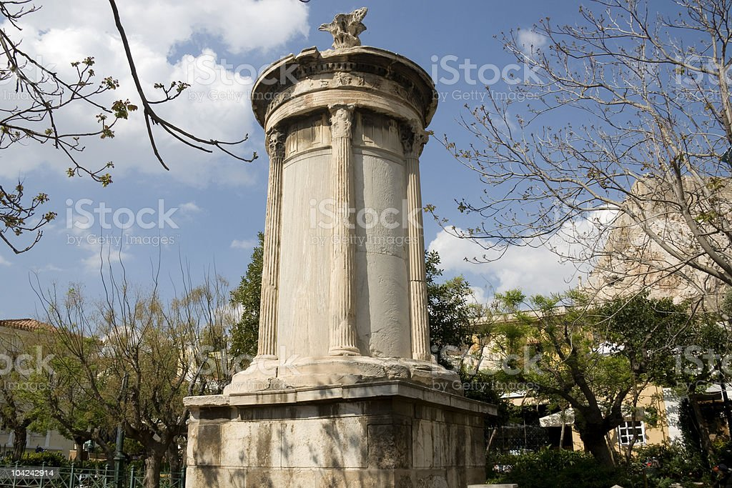Choragic Monument of Lysicrates in Athens royalty-free stock photo