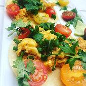 Choriza Breakfast Tacos