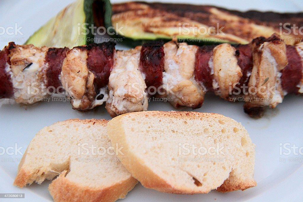 Chorizo e Spiedino di pollo foto stock royalty-free