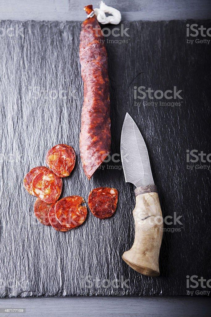 Chorizo stock photo