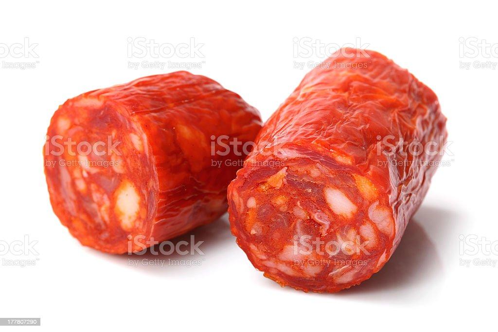 Chorizo Sausage stock photo