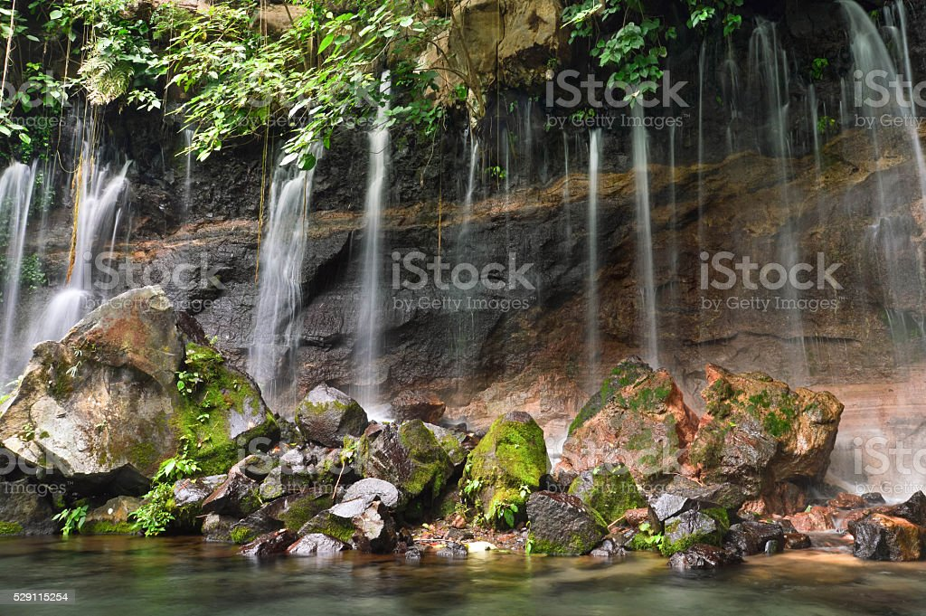 Chorros de la Calera waterfalls in Juayua, El Salvador stock photo