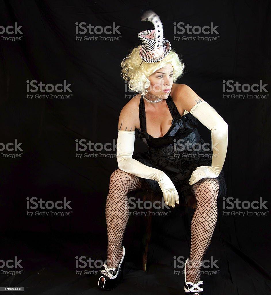 Chorus Girl Resting stock photo