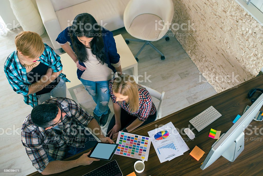 Chosing a Colour for Their New Design stock photo
