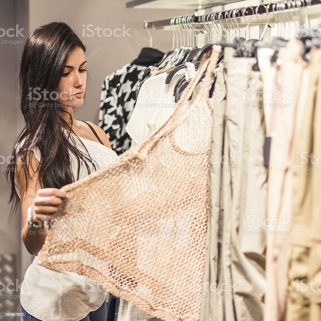 chosing the dress royalty-free stock photo