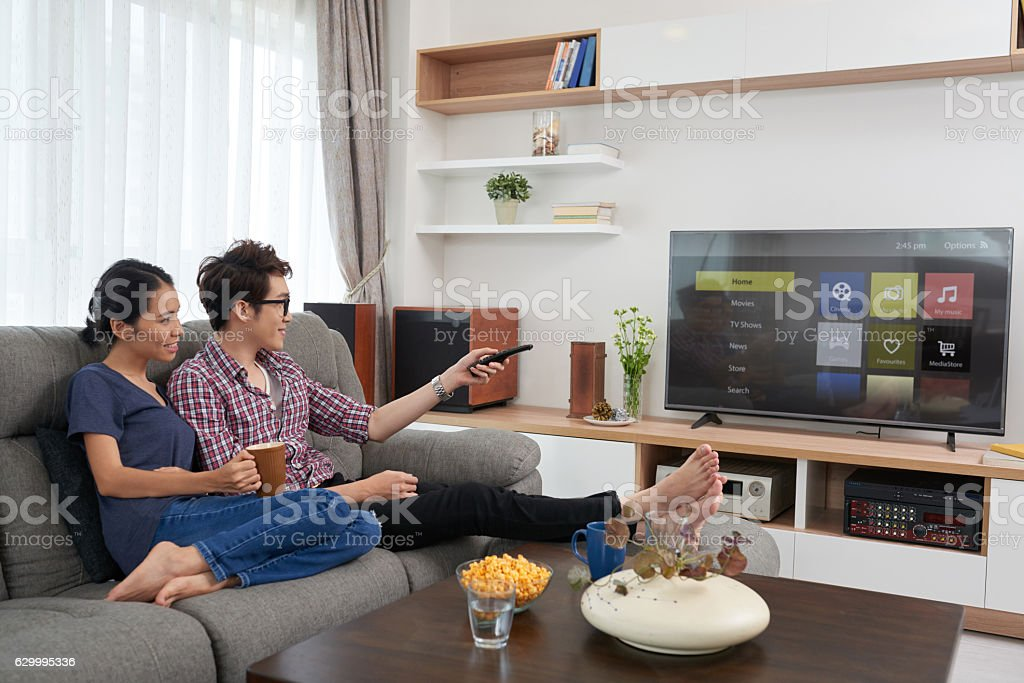 Chossing channel stock photo