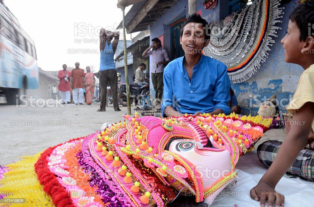 Chou masks of Charida, Purulia,West-Bengal stock photo