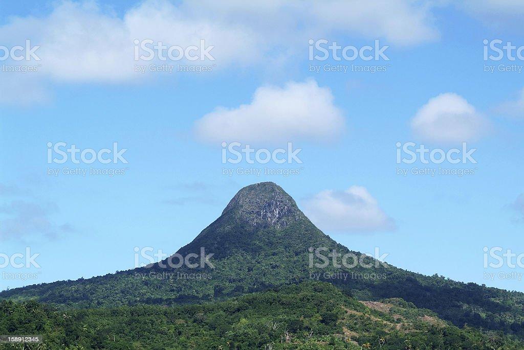 Choungui hill on Mayotte island stock photo