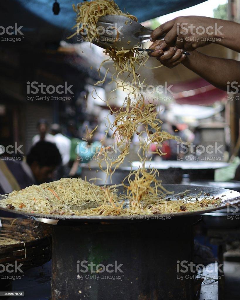 Chowmein - Street Food at Kolkata, India stock photo