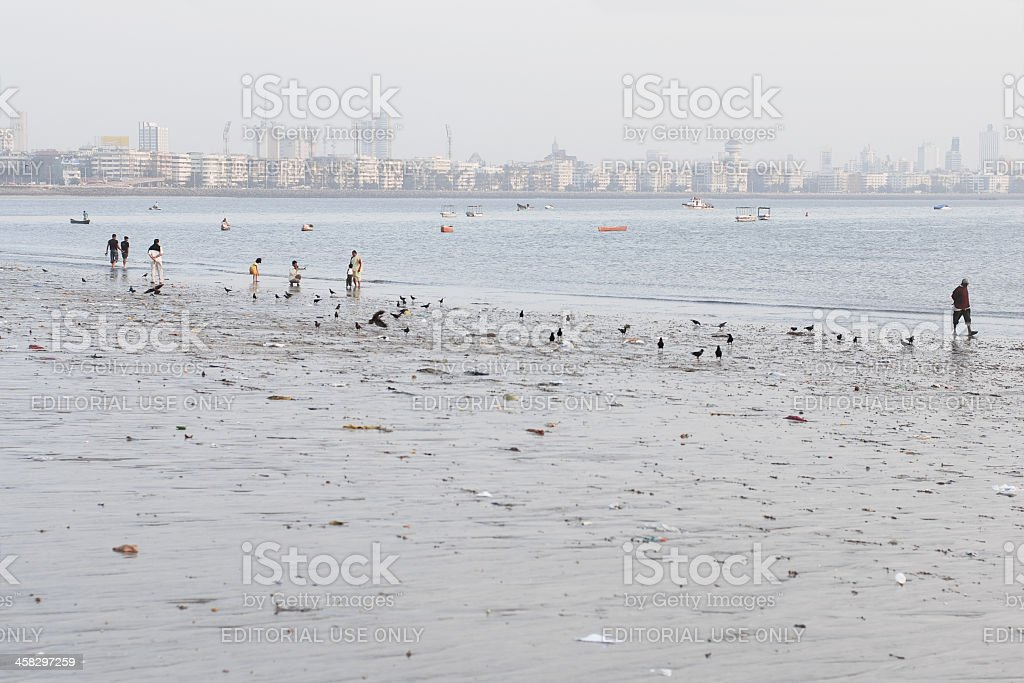 Chowpatty beach royalty-free stock photo