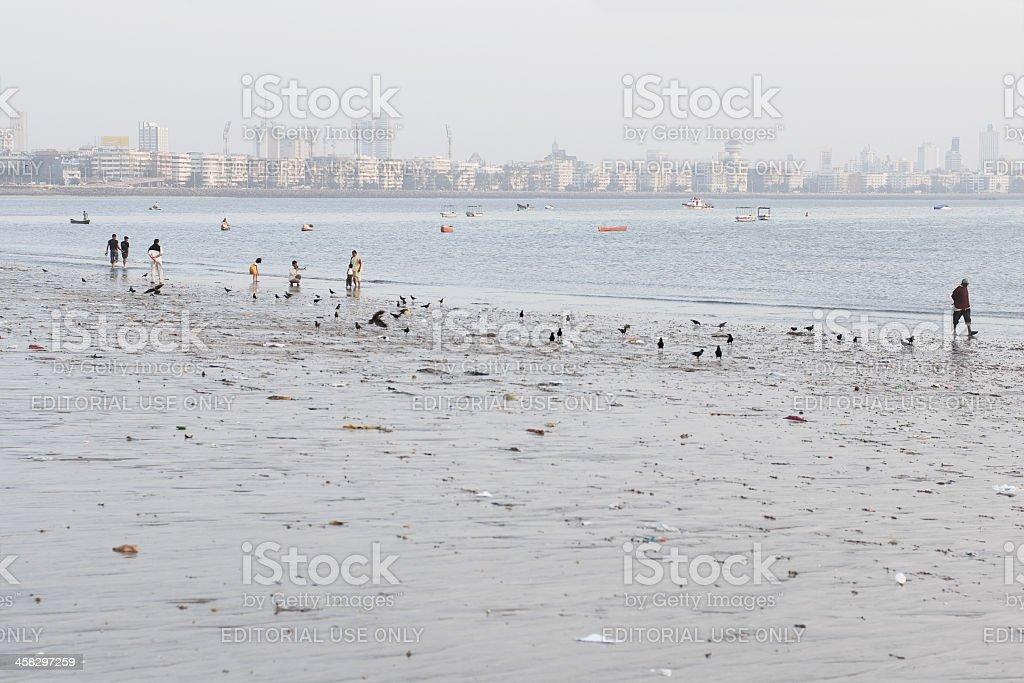 Chowpatty beach stock photo