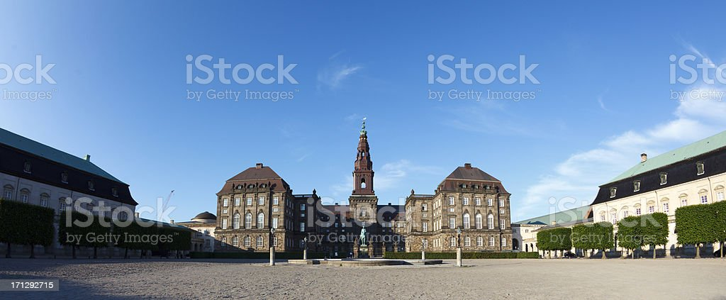 Chrisitansborg Palace stock photo