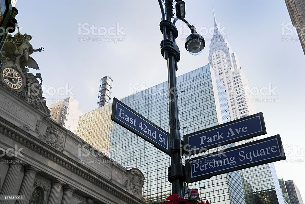 Chrisler Building and Central Station royalty-free stock photo