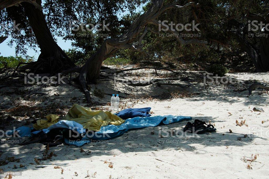 Chrissi Island stock photo