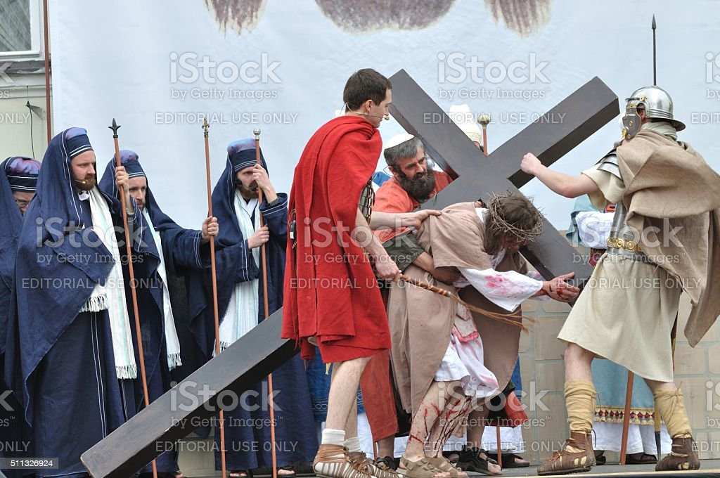 Christ Carrying the Cross stock photo